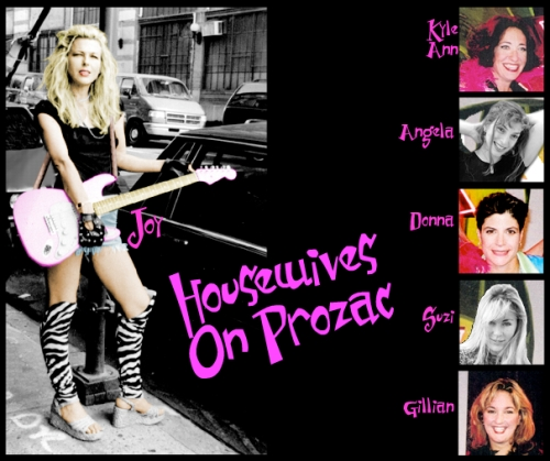 Joy Rose with her band Housewives On Prozac