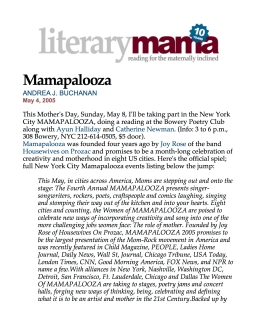 Literary Mama and Mamapalooza
